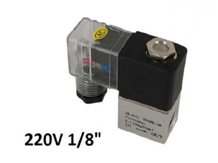 Pneumatski elektromagnetni ventil - 220V - 1/8` - NC