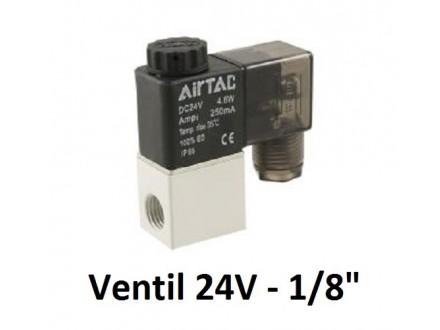 Pneumatski elektromagnetni ventil - 24V - 1/8` - NC