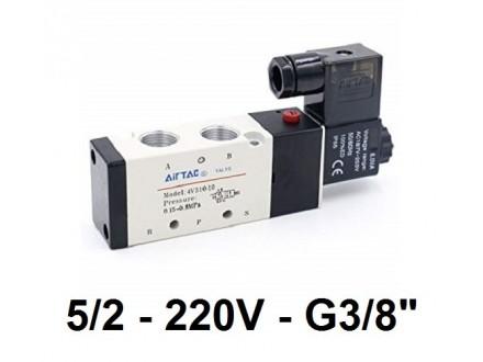 Pneumatski razvodnik elektromagnetni 5/2 G3/8″ 220VAC