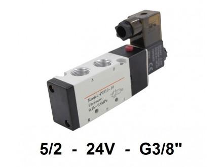 Pneumatski razvodnik elektromagnetni 5/2 G3/8″ 24VDC