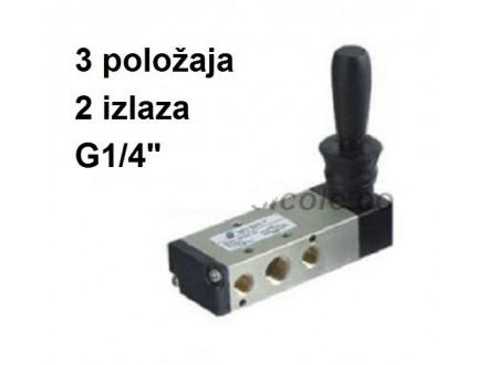 Pneumatski razvodnik ručni sa polugom 5/3 G1/4″