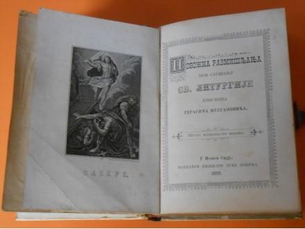 Pobožna razmišljanja pri slušanju svete liturgije 1889.