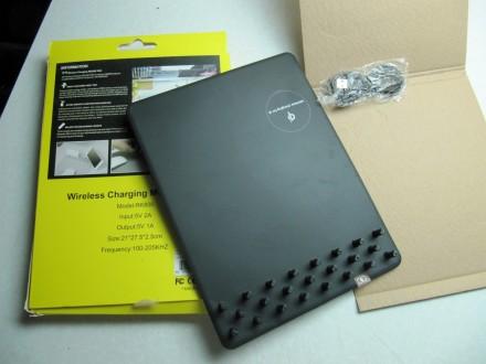 Podloga za miša + bežični punjač (WiFi) crna