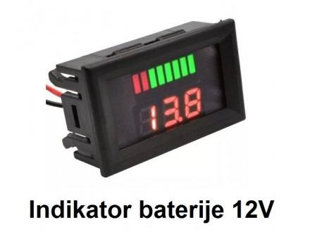 Pokazivac napunjenosti baterije - 12V DC sa naponom
