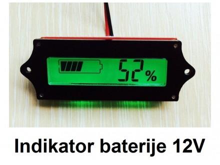 Pokazivac napunjenosti baterije - 12V DC sa procentima