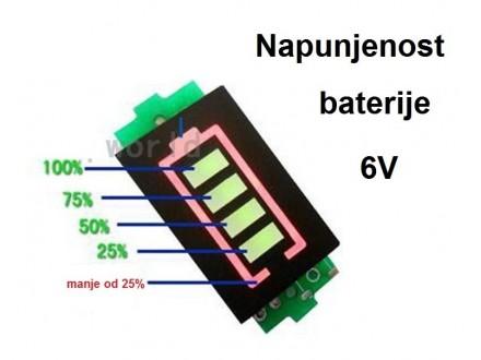 Pokazivac napunjenosti baterije - 6V DC
