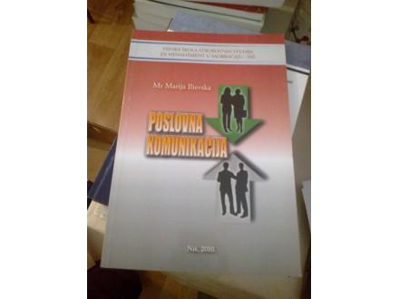Poslovna komunikacija - mr Marija Ilievska