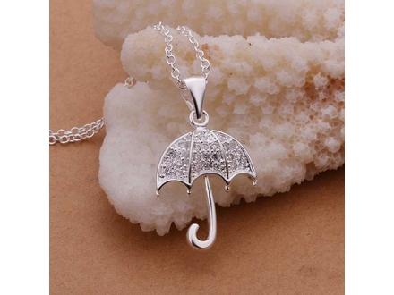 Posrebrena prelepa ogrlica 925,kišobran