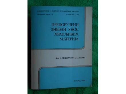 Preporučeni dnevni unos mineralnih sastojaka Ljiljana T