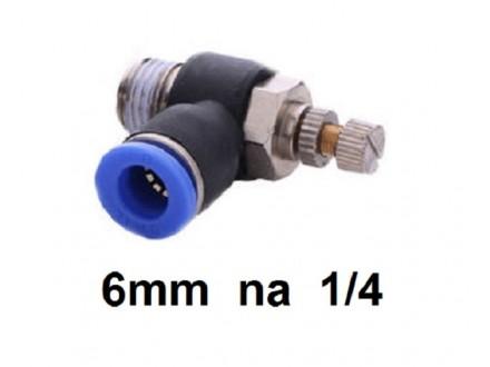 Prigusni ventil 6mm na 1/4 (12.8mm) SL6-1/4