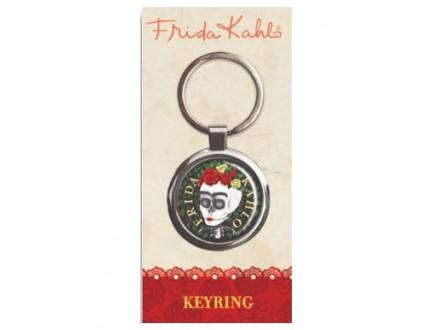 Privezak - Frida Kahlo, Floral Skull