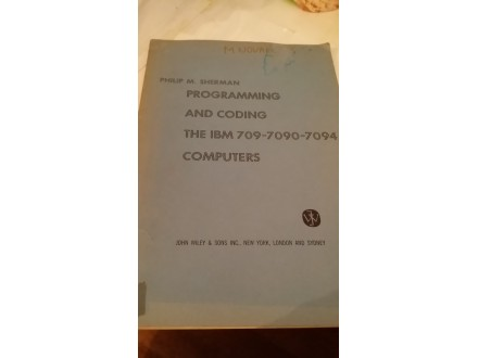 Programming and coding - Philip M. Sherman