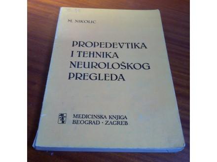 Propedevtika i tehnika neurološkog pregleda