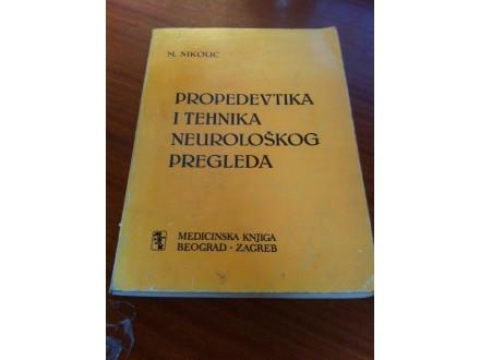 Propevedika i tehnika neurološkog pregleda M Nikolić