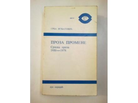 Proza promene 1950. - 1979. Srba Ignjatović