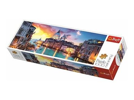 Puzzle 1000 Panorama Trefl - Canal Grande, Venice