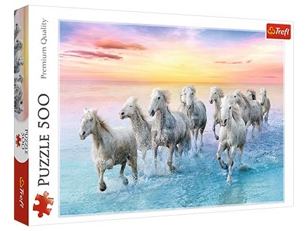 Puzzle 500 - Galloping white horses