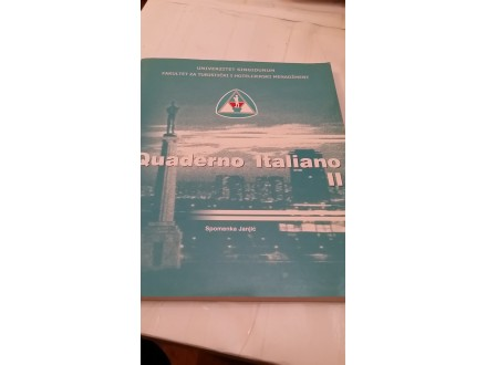 Quaderno Italiano II - Spomenka Janjić