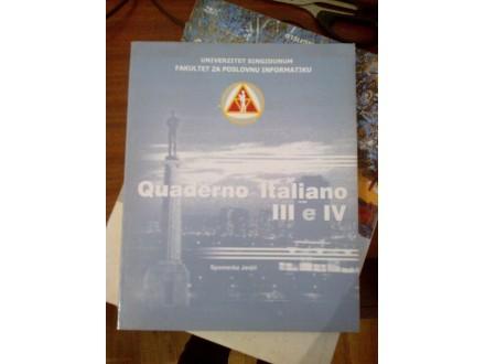 Quaderno Italiano III e IV - Spomenka Janjić