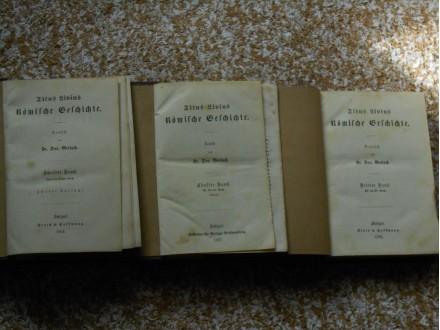 Römische Geschichte Titus Livius 3.5.8.Bände 1867.g