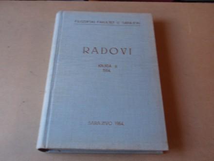 RADOVI FILOZOFSKI FAKULTET U SARAJEVU KNJIGA II - 1964