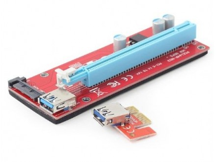 RC-PCIEX-05 Gembird PCI-Express riser add-on card, SATA power