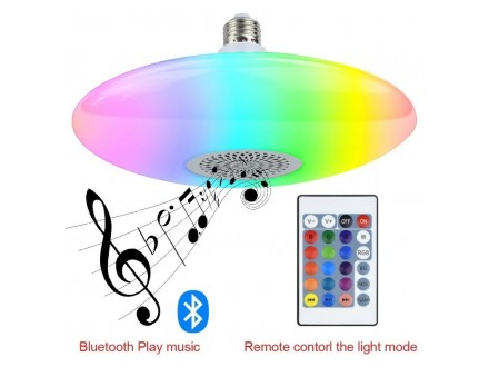 RGB Led Bluetooth Muzička Sijalica-Plafonjera, Novo