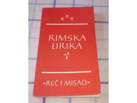 RIMSKA LIRIKA