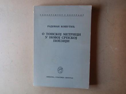 Radovan Košutić - O TONSKOJ METRICI  U NOVOJ SRPSKOJ