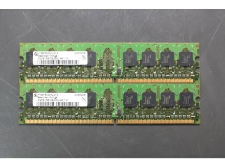 Ram memorija Infineon 2 x 512Mb DDR2 553MHz