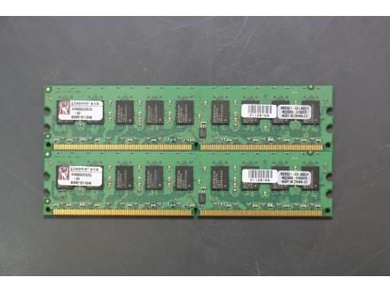 Ram memorija Kingston 2x2Gb DDR2 800MHz