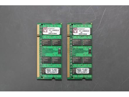 Ram memorija za Laptop DDR2 Kingston 2x2Gb