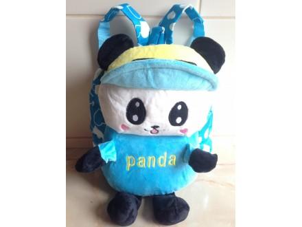 Ranac za vrtic za devojcice,Panda plava, NOVO