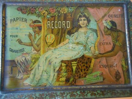 Rare Antique  Cigarette  tinbox art deco Cleopatra