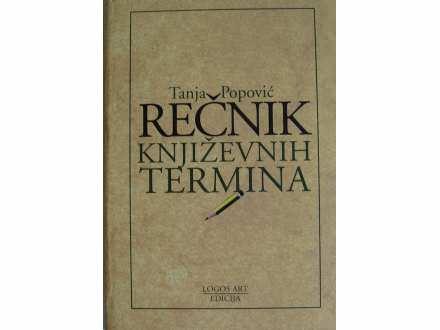 Recnik knjizevnih termina  Tanja Popovic