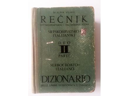 Rečnik srpskohrvatsko-italijanski - Albin Vilhar