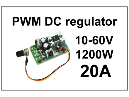Regulator DC motora - PWM - 20A - HHO