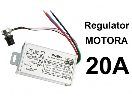 Regulator DC motora - PWM - 20A u kutiji