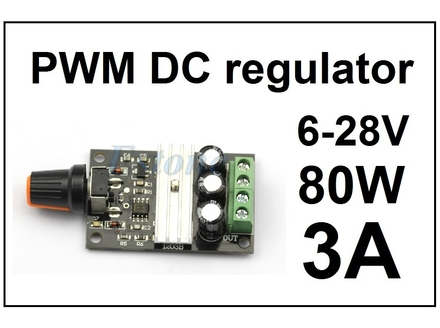 Regulator DC motora - PWM - 3A