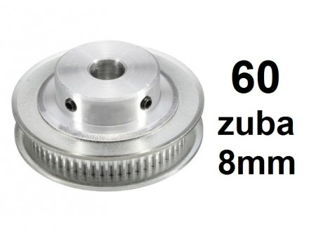 Remenica GT2 - 60 zuba - 8mm rupa