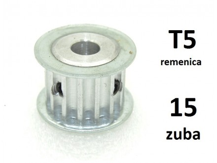 Remenica T5 - 15 zuba - 5mm osovina - 21mm sirina