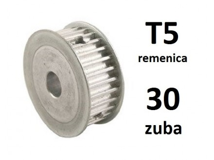 Remenica T5 - 30 zuba - 6mm osovina - 21mm sirina