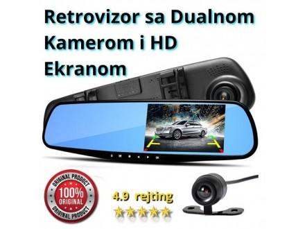 Retrovizor sa Dualnom Kamerom i Ekranom