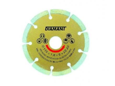 Rezna ploča dijamantska segmentna 115 x 2 x 22.2mm LEVIOR