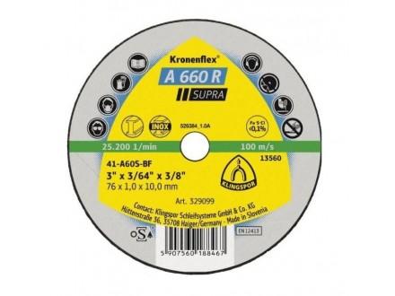 Rezna ploča za inox supra 125 x 1mm Klingspor