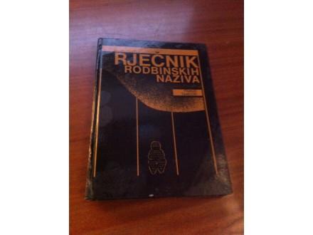 Rječnik rodbinskih naziva Franjo Tanocki