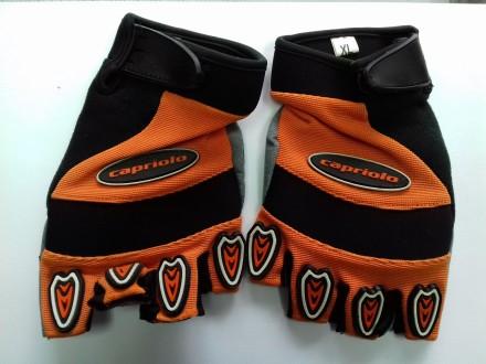 Rukavice za voznju bicikla Capriolo u narandzastoj boji