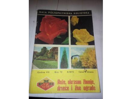 Ruže, ukrasno žbunje, drveće i žive ograde