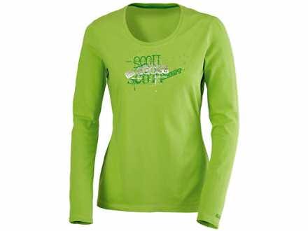 SCOTT Essential zenska majica dugih rukava zelena