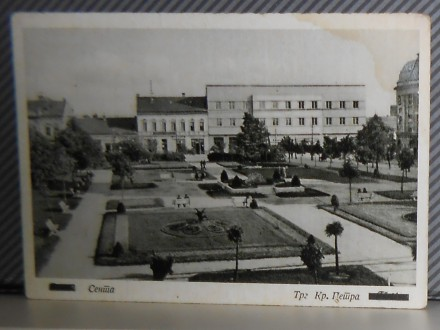 SENTA- TRG KRALJA PETRA 1940/50    ( II-76 )